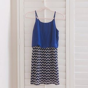Two tone blue dress size small